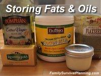 Storing Fats & Oils