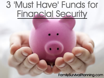 3 Must Have Funds to Ensure Financial Security