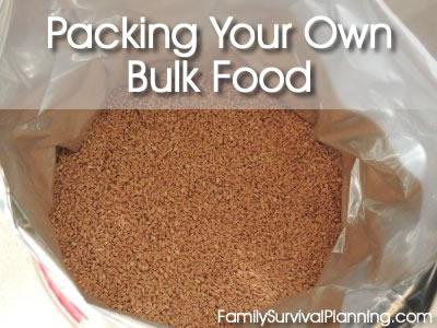 bulk food storage in buckets