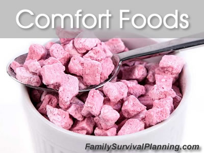 comfort foods for food storage