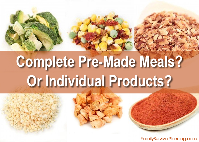 Complete Freeze Dried Meals or Individual Products