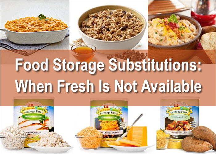 Food Storage Substitutions