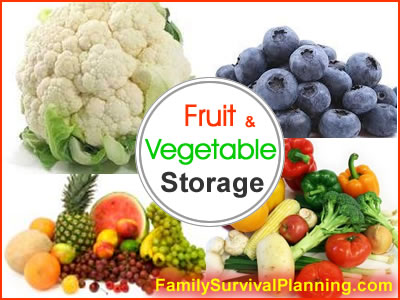 Fruit Storage - Vegetable Storage: Include in Your Food Storage