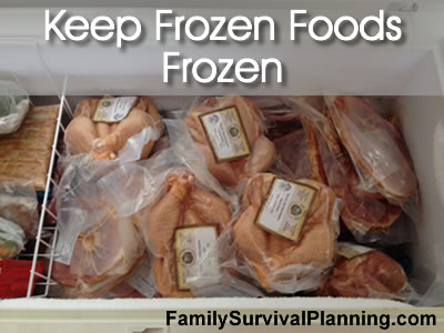 How to Keep Frozen Foods Cold During a Power Failure
