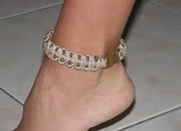 paracord ankle bracelet