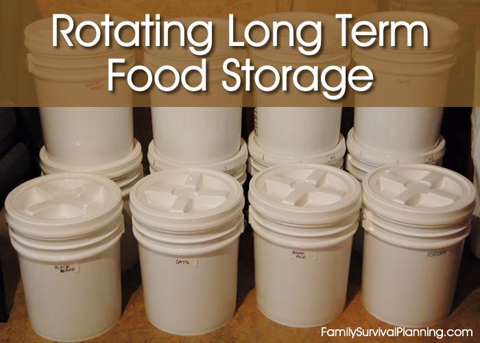 Rotating Long Term Food Storage