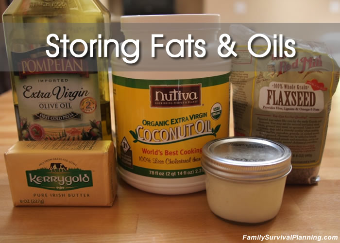 how to store fats and oils