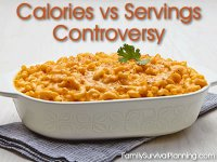 Calories vs Servings Controversy