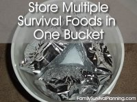 Store Multiple Survival Foods in One Bucket
