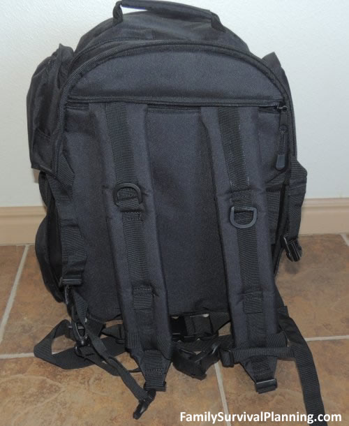 Rear view of backpack