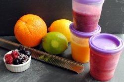 freezing food - fruit puree