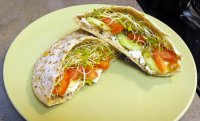 Pita Sandwich with sprouts