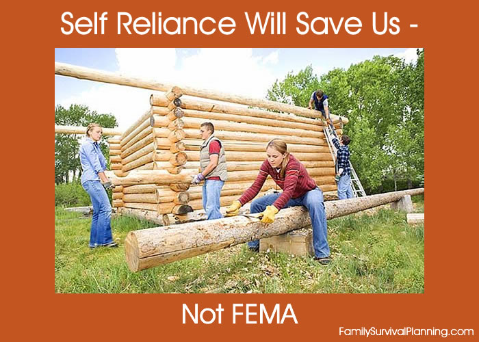 Self Reliance Will Save Us