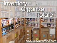 Inventory, Organize, Rotate Food Storage