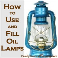 How to Fill and Use Oil Lamps