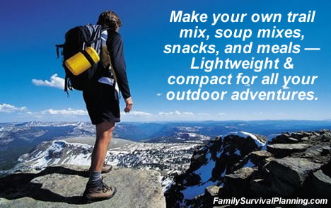 Make your own backpacking foods.