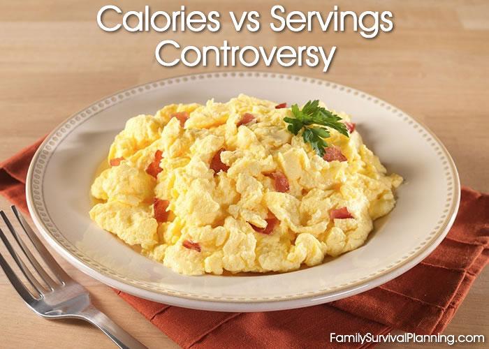 Calories vs Servings
