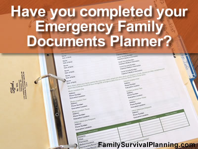Family Documents Emergency Planner