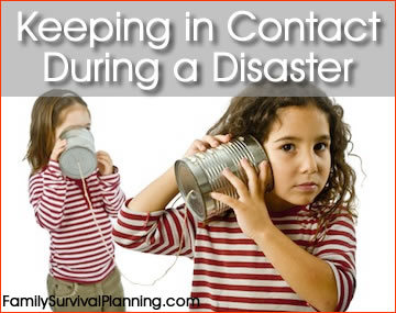 Keeping in Contact During a Disaster