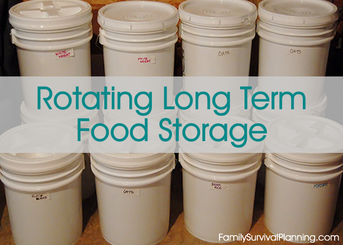 Rotating Long Term Food Storage