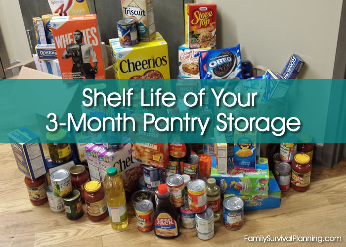 Shelf Life of Your 3-Month Pantry Storage