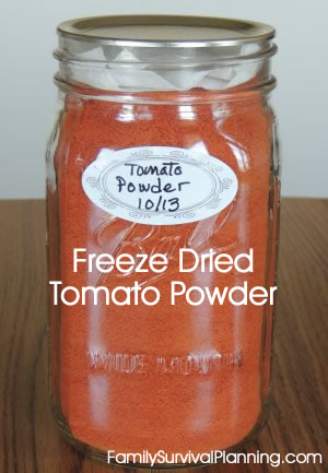 Freeze-Dried Tomato Powder