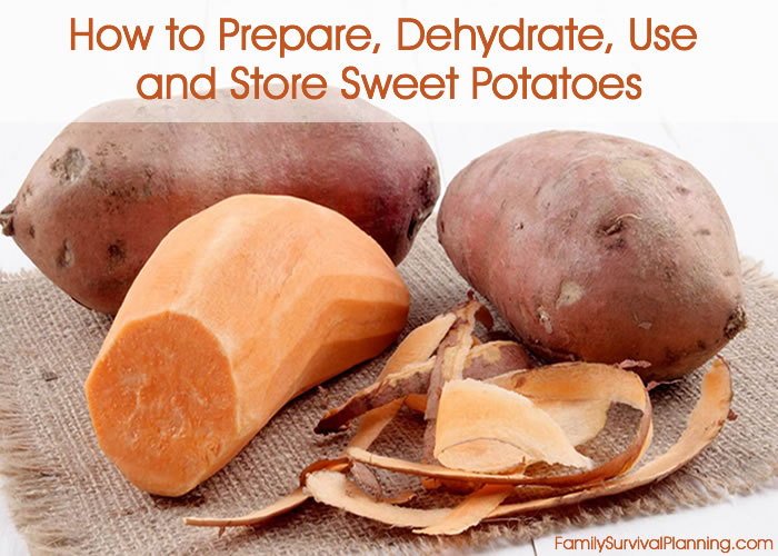 How to Prepare, Dehydrate, Use and Store Sweet Potatoes