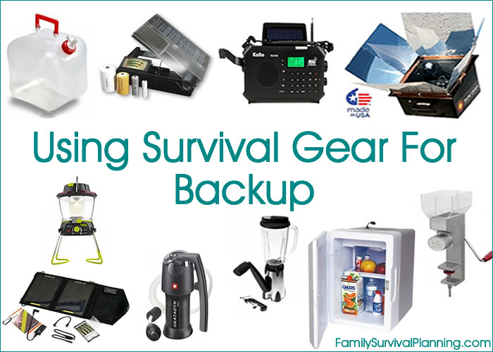 Using Survival Gear For Backup When an Appliance Fails