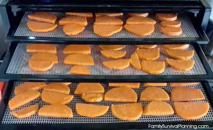 Dehydrating Yams/Sweet Potatoes