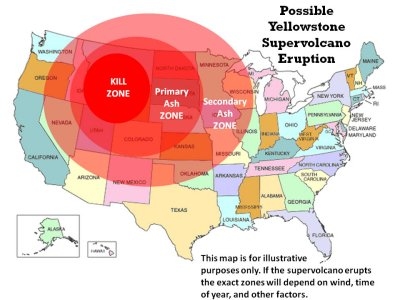Surviving the Mammoth Yellowstone Eruption on minecraft volcano map, us caldera map, if yellowstone erupted, projected ocean rise map, mount st. helens volcano map,